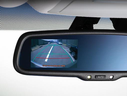 车内后视镜显示倒车影像辅助系统